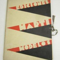 Coleccionismo: CARPETA EDICIONES MARTI MODELOS, 41 LÁMINAS, SIN PATRONES, 1932- 1933, MODA INVIERNO. 30X22CM. Lote 148777210