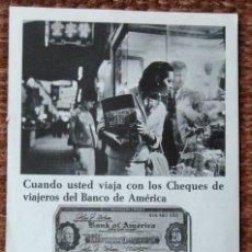 Coleccionismo: PUBLICIDAD BANCO DE AMERICA. Lote 148906074