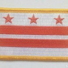 Coleccionismo: ESCUDO PARCHE BANDERA BORDADO TELA WASHINGTON DC (ESTADOS UNIDOS EEUU USA). Lote 148987801