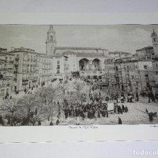 Coleccionismo: LÁMINA VITORIA-GASTEIZ 35X25 CM. PLAZA DE LA VIRGEN BLANCA.. Lote 149247770