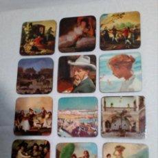 Coleccionismo: 12 POSAVASOS AÑOS 70 DE CUADROS FAMOSOS DE PINTORES. Lote 149260834