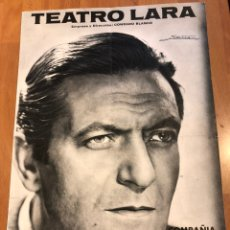 Coleccionismo: PROGRAMA TEATRO LARA ALBERTO CLOSAS JULIA GUTIÉRREZ CABA FLOR DE CACTUS. Lote 149466610