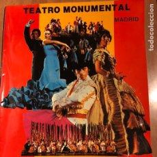 Coleccionismo: PROGRAMA TEATRO MONUMENTAL JOSE TAMAYO ANTOLOGÍA DE LA ZARZUELA. Lote 149543434