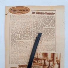 Coleccionismo: ZARAGOZA. HOJA CON PUBLICIDAD. 1934. Lote 149680449
