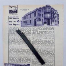 Coleccionismo: ZARAGOZA. HOJA CON PUBLICIDAD. 1934. Lote 149682914