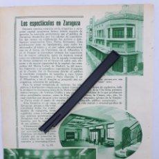 Coleccionismo: ZARAGOZA. HOJA CON PUBLICIDAD. 1934. Lote 149683252
