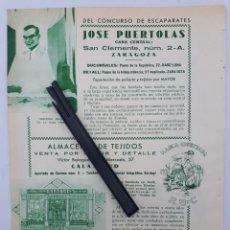 Coleccionismo: ZARAGOZA. HOJA CON PUBLICIDAD. 1934. Lote 149683630