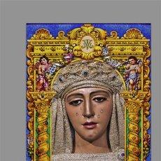 Coleccionismo: AZULEJO 40X25 DE NUESTRA SEÑORA DE LA ESPERANZA DE TRIANA (SEVILLA). Lote 149693430