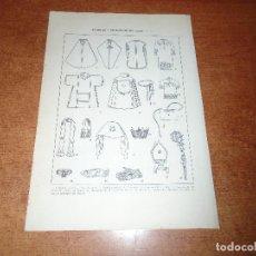 Coleccionismo - LÁMINA ANTIGUA DICCIONARIO ENCICLOPÉDICO : ATRIBUTOS, ORNAMENTOS Y OBJETOS DEL CULTO - 149905406