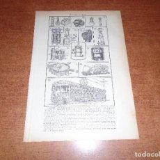 Coleccionismo: LÁMINA ANTIGUA DICCIONARIO ENCICLOPÉDICO : ELECTRICIDAD. Lote 149906694