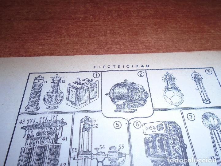 Coleccionismo: LÁMINA ANTIGUA DICCIONARIO ENCICLOPÉDICO : ELECTRICIDAD - Foto 2 - 149906694
