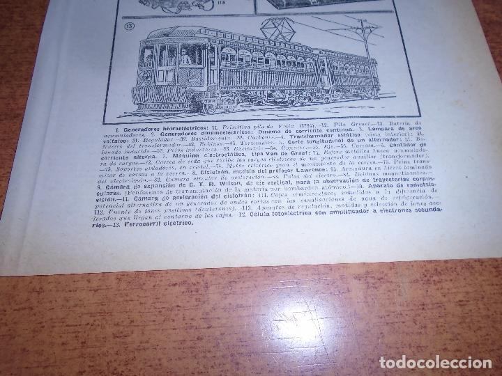 Coleccionismo: LÁMINA ANTIGUA DICCIONARIO ENCICLOPÉDICO : ELECTRICIDAD - Foto 3 - 149906694