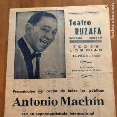 Coleccionismo: PROGRAMA TEATRO RUZAFA ANTONIO MACHIN 1962. Lote 149963710