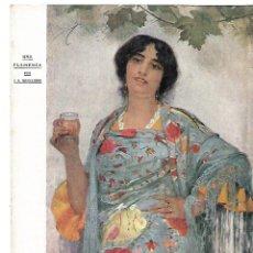 Coleccionismo: AÑO 1910 RECORTE PRENSA DIBUJO PINTURA UNA FLAMENCA POR JUAN ANTONIO BENLLIURE. Lote 150084398