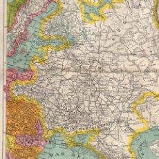 Coleccionismo: DOBLE LÁMINA PLANO DE RUSIA EUROPEA -ANTIGÜA LÁMINA SALVAT Y C., S. EN C., EDITORES -. Lote 150147386