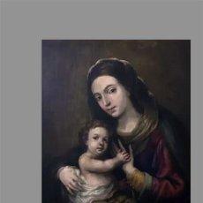 Coleccionismo: AZULEJO 40X25 DE LA VIRGEN CON EL NIÑO JESÚS. Lote 150156798
