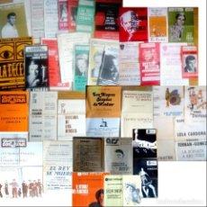 Coleccionismo: LOTE DE 37 PROGRAMAS DE TEATRO ORIGINALES DE LOS AÑOS 60-70 EN BARCELONA. Lote 150428582