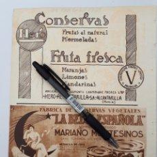 Coleccionismo: MURCIA. HOJA CON PUBLICIDAD. 1934. Lote 150531300