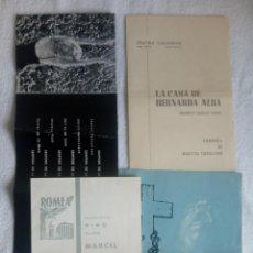 Coleccionismo: 4 IMPORTANTES TÍTULOS DEL TEATRO DE LOS AÑOS 60'S: PROGRAMAS ORIGINALES BARCELONA. Lote 150624450