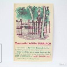 Coleccionismo: TARJETA PUBLICITARIA - MANANTIAL AGUA BURRIACH - PASATIEMPO EN EL DORSO. Lote 150975920