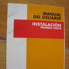 Coleccionismo: MANUAL DEL USUARIO INSTALACION. Lote 150995318