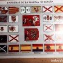Coleccionismo: LAMINA DE BANDERAS DE LA MARINA DE ESPAÑA-. Lote 151012002