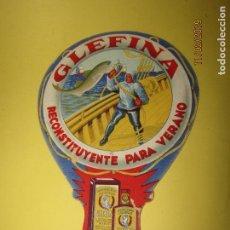 Coleccionismo: ANTIGUO PAY PAY PUBLICIDAD DE ACEITE DE HÍGADO DE BACALAO GLEFINA Y LASA. Lote 151029538