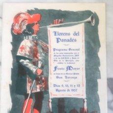 Coleccionismo: PROGRAMA DE FIESTA MAYOR DE LLORENÇ DEL PENEDÈS TARRAGONA 1957.. Lote 151061314
