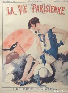 1926 La Vie Parisienne. Lámina original sobre cartulina negra preparada para enmarcar 40x50 cm