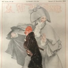 Coleccionismo: 1926 LA VIE PARISIENNE. LÁMINA ORIGINAL SOBRE CARTULINA NEGRA PREPARADA PARA ENMARCAR 40X50 CM. Lote 151070958