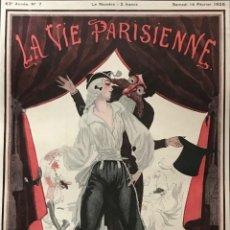 Coleccionismo: 1925 LA VIE PARISIENNE. LÁMINA ORIGINAL SOBRE CARTULINA NEGRA PREPARADA PARA ENMARCAR 40X50 CM. Lote 151072110