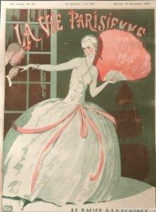 1921 La Vie Parisienne. Lámina original sobre cartulina negra preparada para enmarcar 40x50 cm