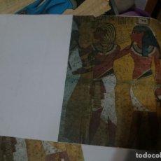 Coleccionismo: LAMINA SOBRE PAPIRO EGIPTO IMITACION -ESPECIAL PARA PONER EN PAREDES -MODELO 3. Lote 151116658