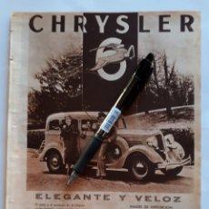 Coleccionismo: CHRYSLER. HOJA CON PUBLICIDAD. 1934. Lote 151124946