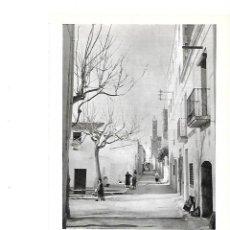 Coleccionismo: AÑO 1961 RECORTE PRENSA FOTOGRAFIA CALLE TIPICA PUEBLO DEL MARESME FOTOGRAFO CATALA ROCA. Lote 151328774