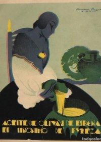 anuncio Aceite de oliva. 10,8x12,8 cm