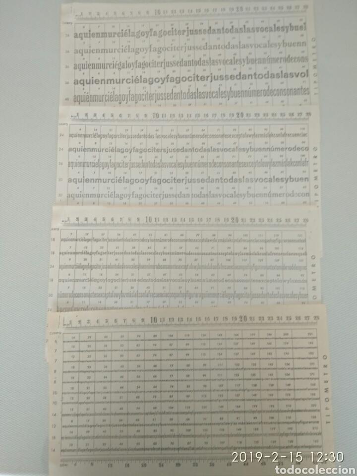 4 ANTIGUAS PAGINAS TIPOMETRO.VER (Coleccionismo - Laminas, Programas y Otros Documentos)