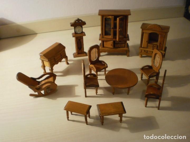 Muebles miniatura de madera salon-comedor (12 p - Verkauft ...