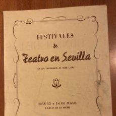 Coleccionismo: PROGRAMA TEATRO EN SEVILLA PARQUE MARIA LUISA.DON GIL DE LAS CALZAS VERDES.JOSE LUIS LÓPEZ VÁZQUEZ.. Lote 151517418