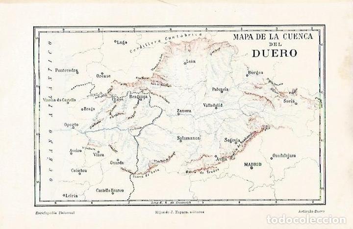 Cuenca Del Duero Mapa.Lamina Espasa 31562 Mapa De La Cuenca Del Duero