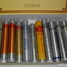 Coleccionismo: COLECCION PUROS HABANOS -CUBA TUBOLARES ( 10 P.PARTAGAS- CARACOL -HOYO MONTRRY- HUPM TETC. Lote 151637098