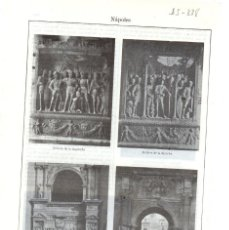 Coleccionismo: LÁMINA ESPASA - NÁPOLES. Lote 151875718