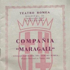 1955-1956 Teatro Romea. Compañia Maragall 11,8x16,8 cm