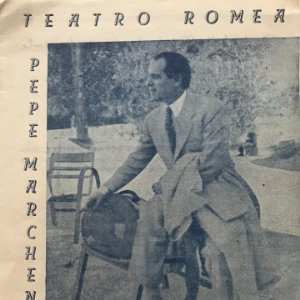 Teatro Romea. Pepe Marchena en Curro Lucena 16x22,5 cm