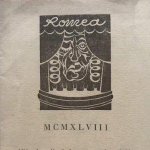 1948 Teatro Romea. Amigos de la ciudad 10,8x14,5 cm
