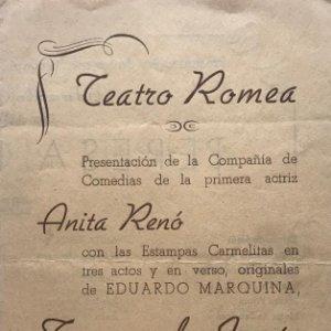 1947 Teatro Romea. Programa de mano Teresa de Jesus 13,7x21,5 cm