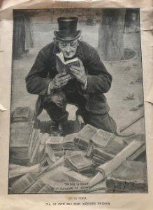 Ilustración de Méndez Bringa. Feria del libro 20,2x27,3 cm