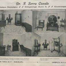 Coleccionismo: 1915 PUBLICIDAD DR. F. SERRA CASALS 19X15,5 CM. Lote 151950218