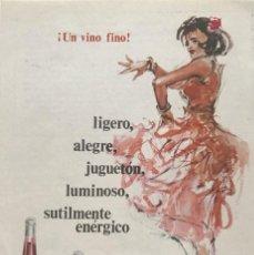 Coleccionismo: 1966 PUBLICIDAD VINO FINO MORILES MONTILLA 12X17,5 CM. Lote 151950698