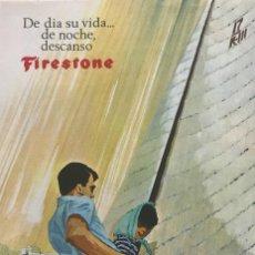 Coleccionismo: 1966 PUBLICIDAD COLCHONES FIRESTONE 13,1X18,7 CM. Lote 151951258